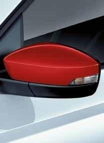 Dekorative Spiegelkappen Rot