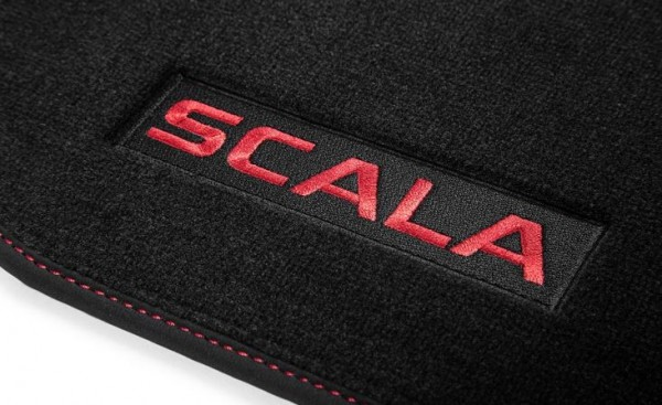 Textilfußmatten-Set Premium SCALA Rot
