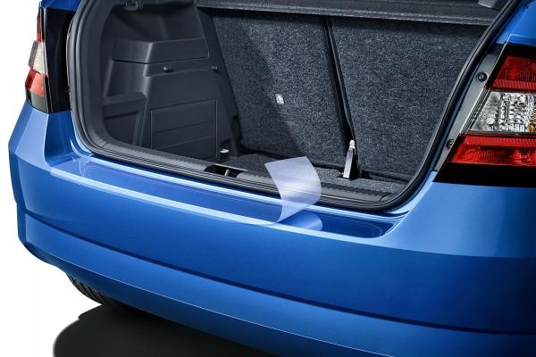 Schutzfolie für die Heckstoßstange für Fabia III Limousine.