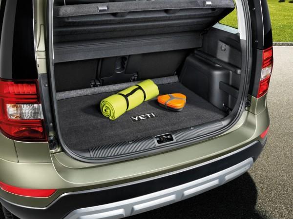 Textilmatte für Kofferraum für Yeti mit doppeltem Ladeboden