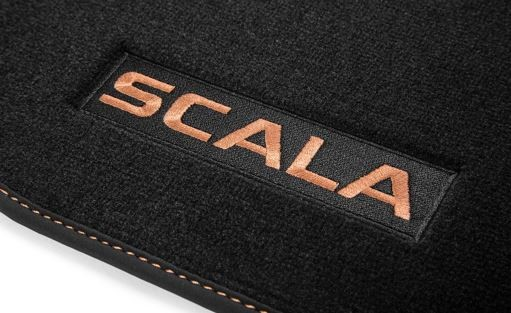 Textilfußmatten-Set Premium SCALA Kupfer