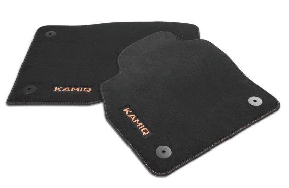 Textilfußmatten-Set Premium Kupfer KAMIQ